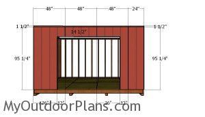 Front wall siding panels