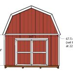 14×14 Gambrel Shed Doors Plans