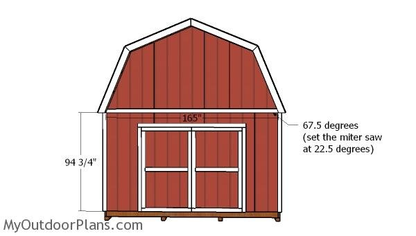 14x14 Gambrel Shed Doors Plans