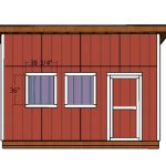 16×16 Lean to Shed Doors Plans