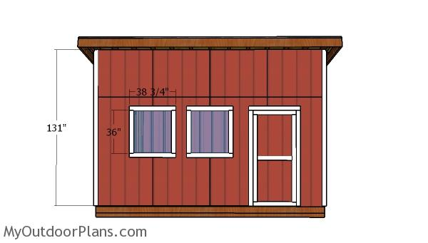 16x16 Lean to Shed Doors Plans