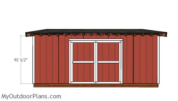 10x20 Shed Doors Plans