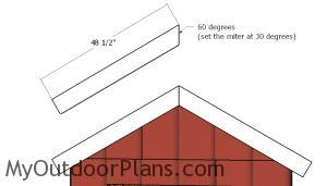 Gable end trims