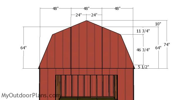 Gambrel end panels
