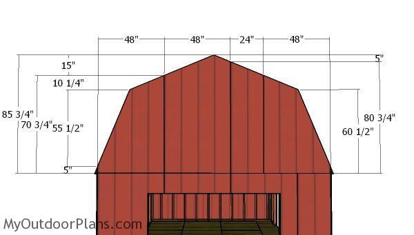 Gambrel end panels