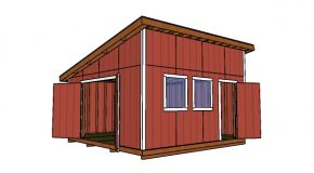 16X16 Lean to Shed – Free DIY Plans