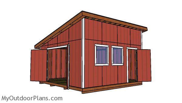 16x16 Lean To Shed Free Diy Plans Myoutdoorplans