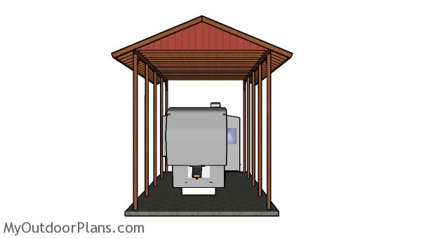 20x40 rv carport gable roof plans myoutdoorplans free for 20 x 40 shed plans