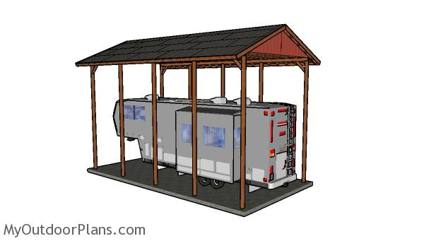 20x40 rv carport plans myoutdoorplans free woodworking Motorhome carport plans