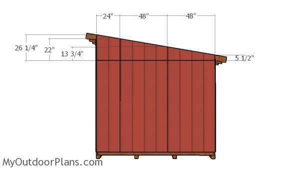 Side lean to panels