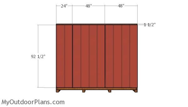 Side wall siding panels