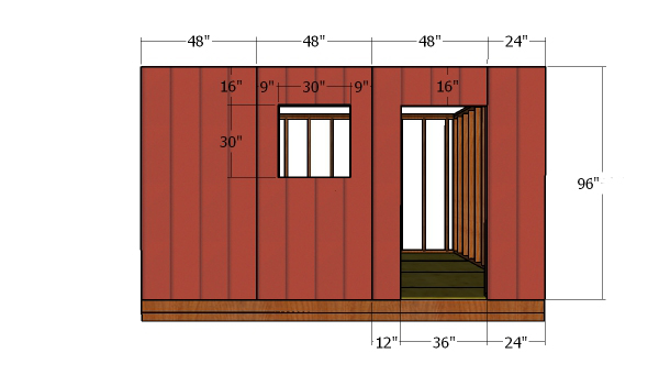 Side-wall-with-door-siding-panels