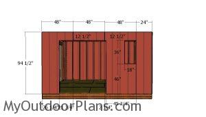 Side wall with double doors siding sheets