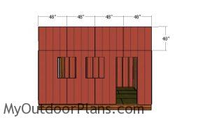Top front wall siding panels
