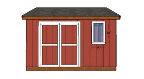 12×14 Shed Doors Plans