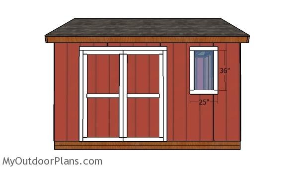 12x14 Shed Doors Plans