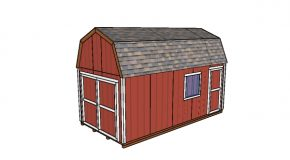 10×20 Gambrel Shed Plans