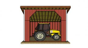 12×16 Run In Shed Plans