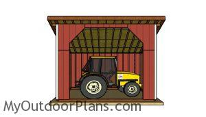 12x16 run in shed plans