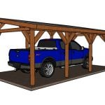 12×24 Do It Yourself Lean to Carport Plans
