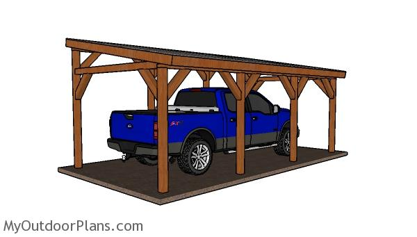 12x24 Do It Yourself Lean to Carport Plans