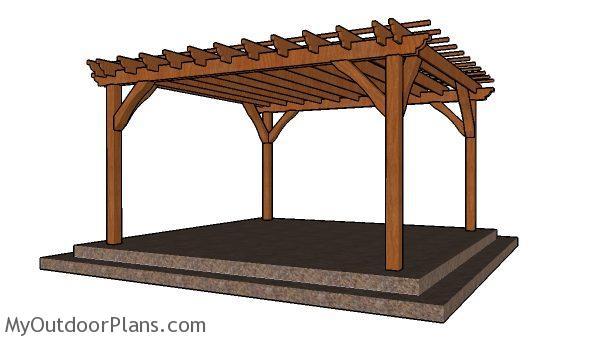 14x14 Pergola Free Diy Plans Myoutdoorplans Free