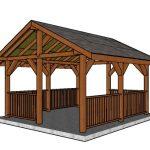 14×16 Pavilion – Free DIY Plans