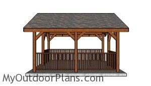 14x16 Pavilion Plans - Side view