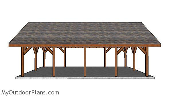 20x30 Pavilion Plans - Side view