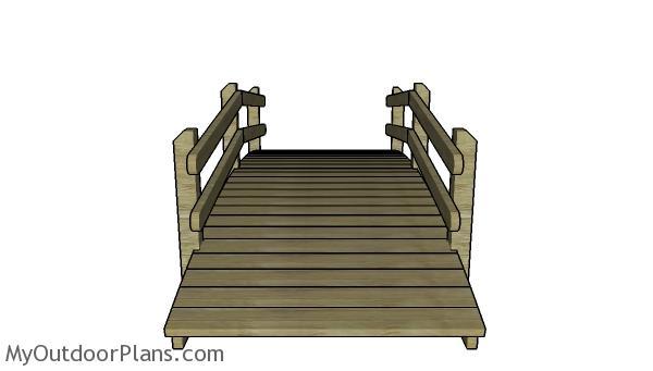 Arched garden bridge plans - Front view