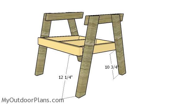 Assembling the chair frame