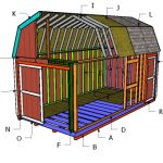 10×20 Gambrel Shed Roof Plans