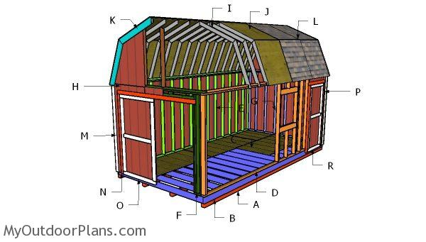 Building 10x20 gambrel shed