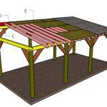 12×24 Lean to Carport Roof Plans