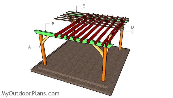 Do It Yourself Home Design: 14x14 Pergola - Free DIY Plans