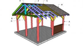 14×16 Pavilion Roof Plans