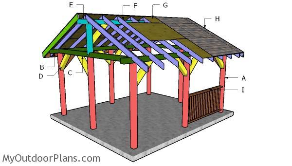 14x16 Pavilion Roof Plans