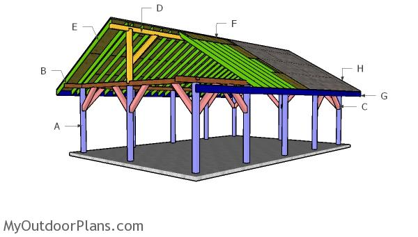20x30 Pavilion Roof Plans