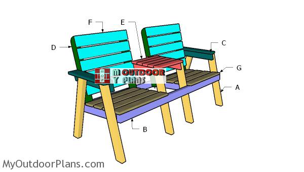 Building-a-modern-double-chair-bench