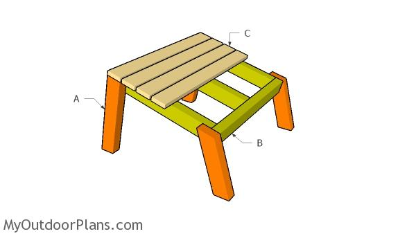 Building a modern footrest