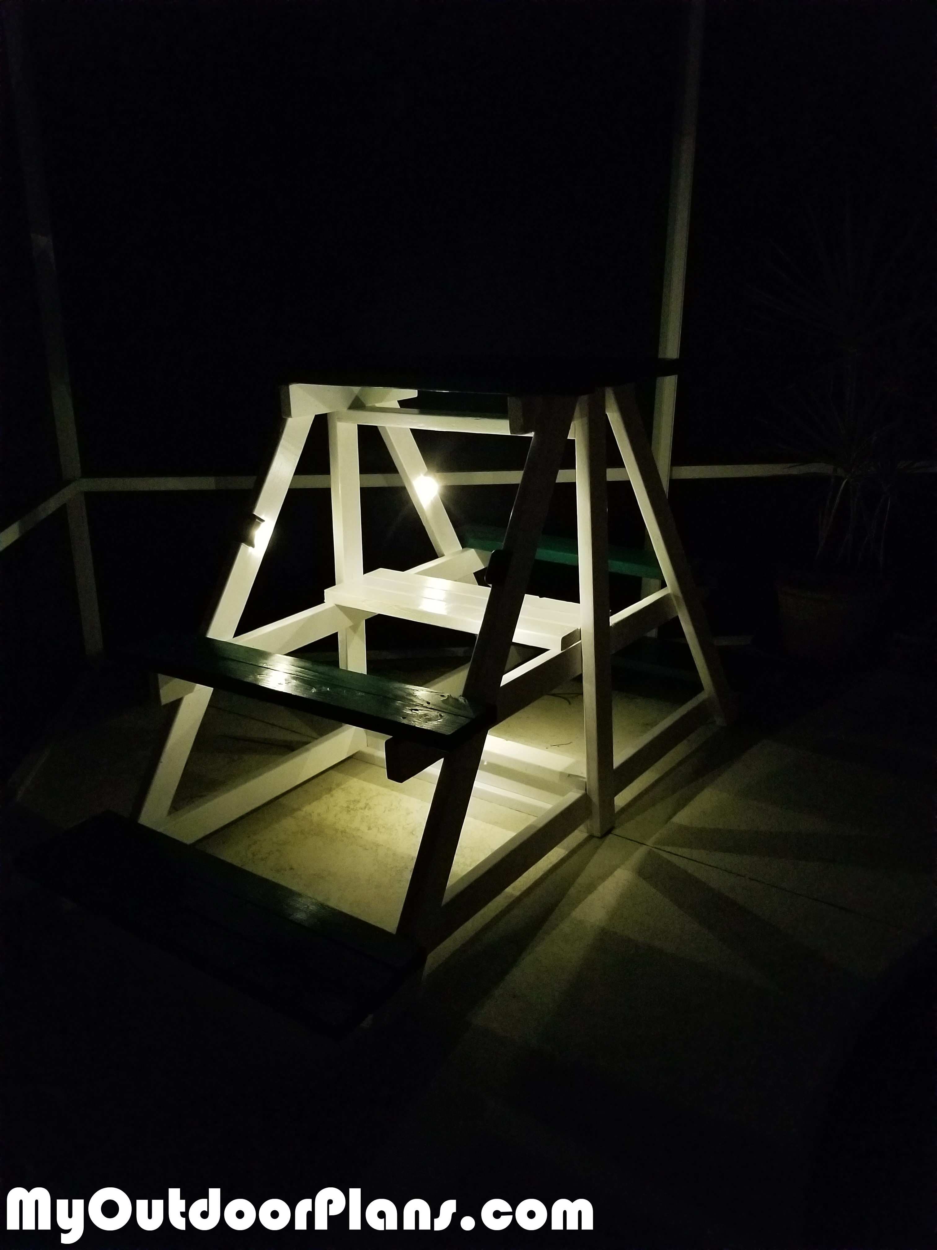 Building-a-plant-stand-with-solar-lights