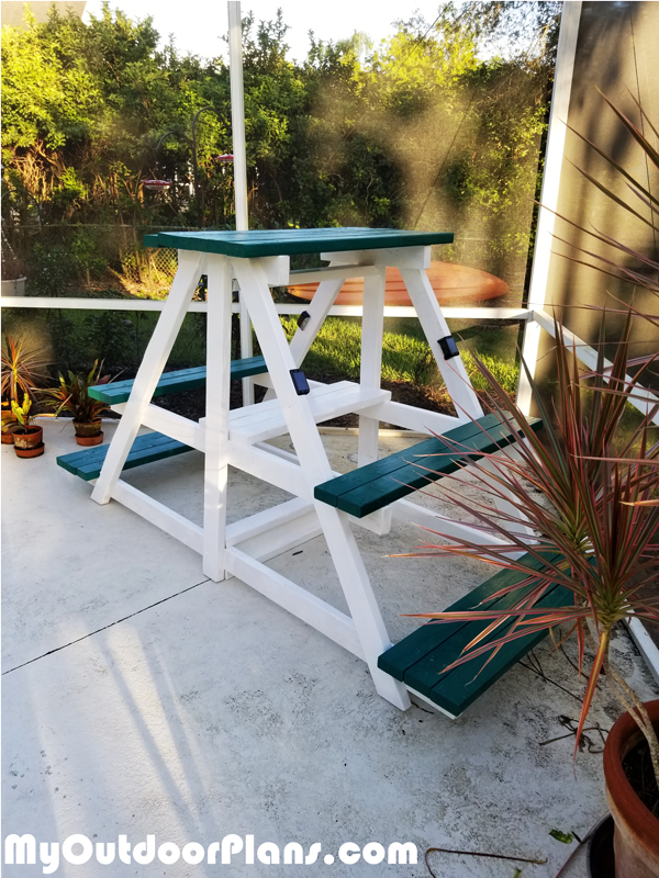 Diy Large Plant Stand Myoutdoorplans Free Woodworking