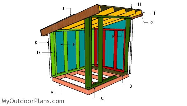 XXL Dog House Roof Plans