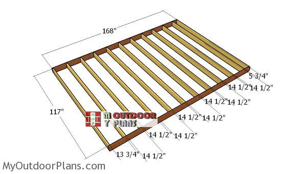 Building-the-floor-frame-10x14-lean-to