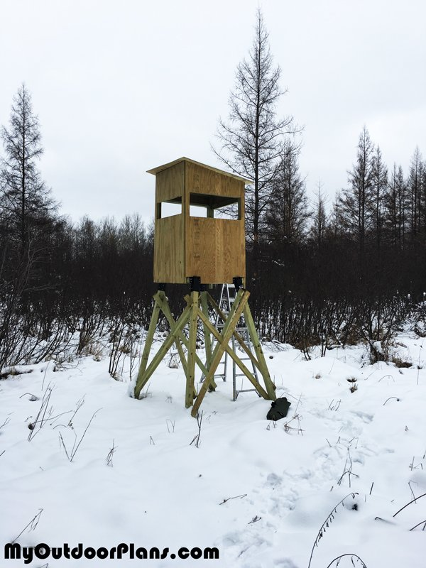 Diy 4x4 Deer Stand Myoutdoorplans Free Woodworking