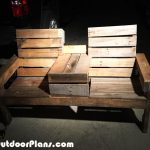 DIY Pallet Double Chair Bench with Table