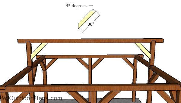Fitting the ridge beam braces