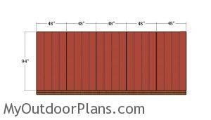 Fitting the side wall siding sheets