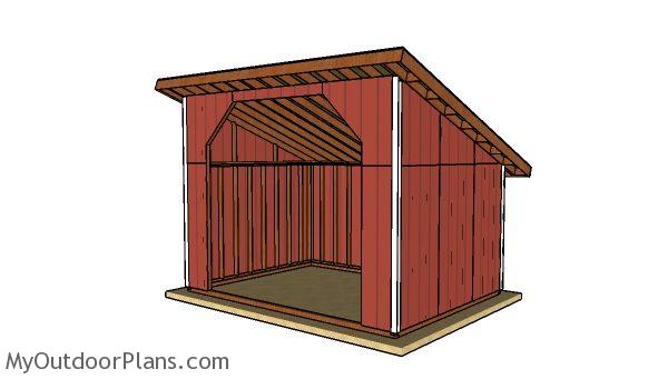 Free 12x16 run in shed plans