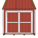 10×20 Gambrel Shed Door Plans